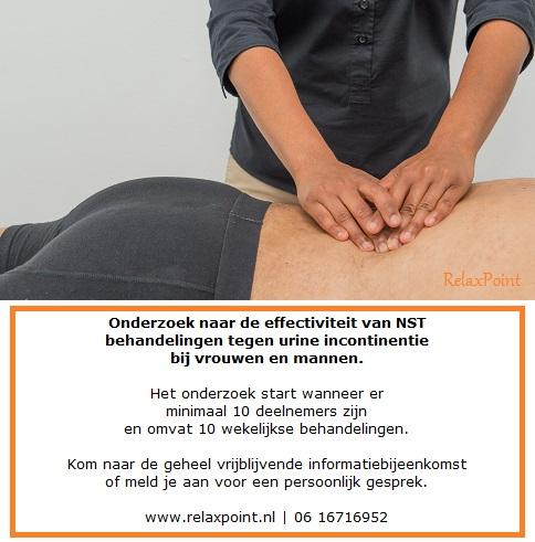 urine incontinentie therapie massagetherapie leidschendam